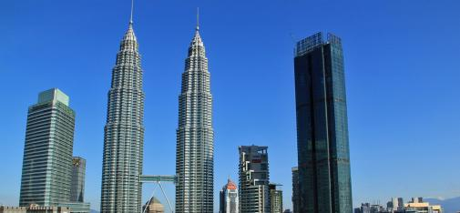 Destined to become the capital's second highest building with 77 floors, the 343 metre high Four Seasons Place is right next to the iconic Petronas Towers skyscrapers.