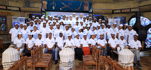 Group photo with employees of LICON and MC-Bauchemie at the kick-off event in Ethiopia.