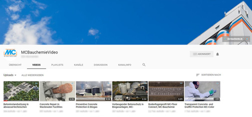 MC corporate channel on YouTube