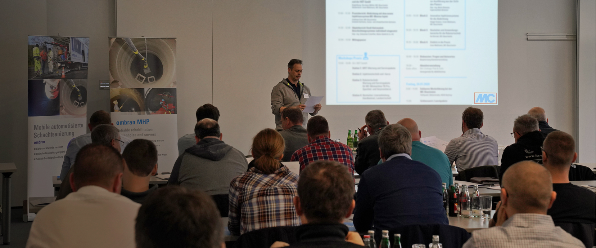 On 23 and 24 January 2020, the ombran division of MC-Bauchemie held the third Ombran Conference at MC-Bauchemie's training centre in Bottrop.
